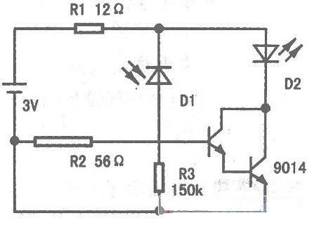 利用遥控器上的3v电源给另加的电路板供电,另加的小块电路板连5条线(2