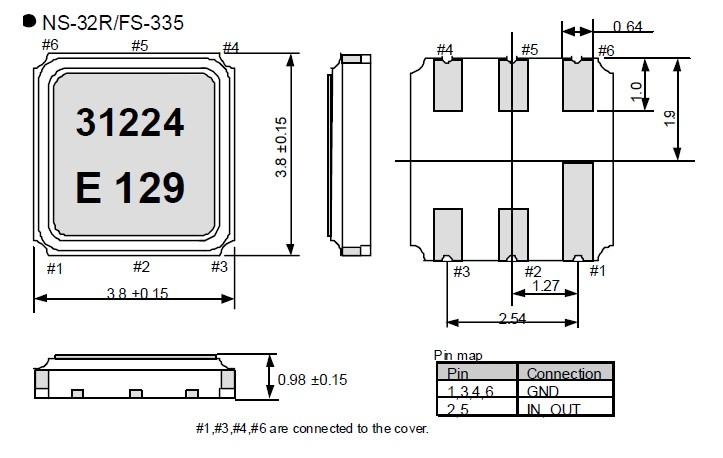 高频率晶振,爱普生NS-32R,声表面谐振器,晶体内部石英晶片均采用了全自动压电石英晶振晶片清洗技术,采用高压喷淋清洗,兆声振动的原理.小体积的晶振被广泛应用到,手机蓝牙,GPS定位系统,无线通讯集,高精度和高频率的稳定性能,非常好的减少电磁干扰的影响,是民用无线数码产品最好的选择,符合RoHS/无铅.
