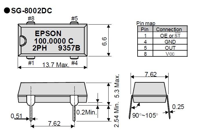 陶瓷面有源晶振,sg-8002dc振荡器,爱普生贴片晶振